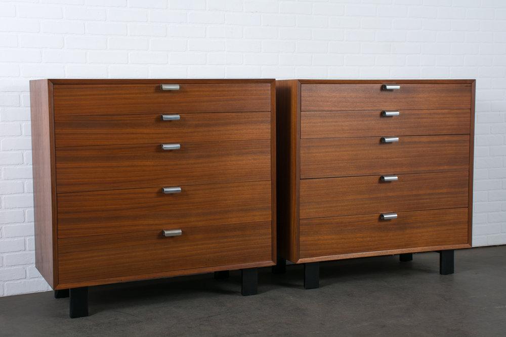 George Nelson for Herman Miller Walnut Dressers