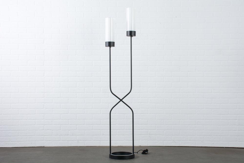 Robert Bulmore Two Stem Cast Iron Floor Lamp, 1950s