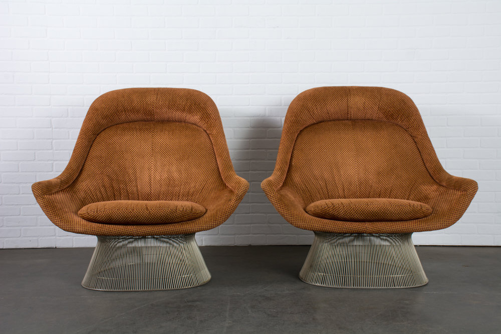 Copy of Warren Platner for Knoll Pair of Easy Chairs, 1966