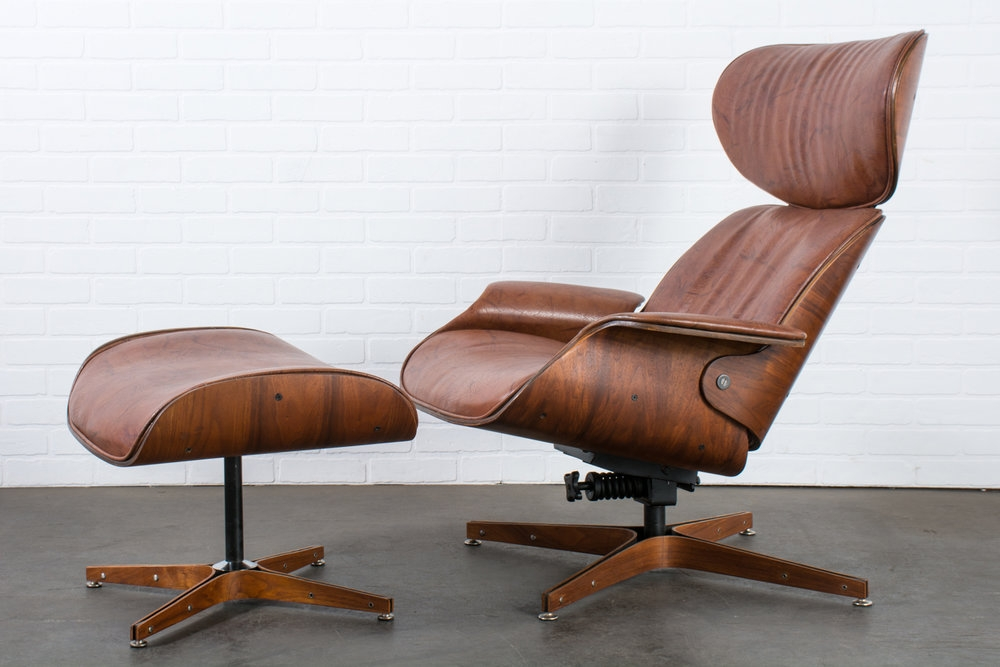 Copy of George Mulhauser for Plycraft 'Mr. Chair' Lounge Chair and Ottoman, 1960s