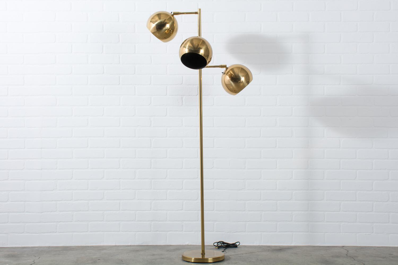 Mid Century Brass Floor Lamp By Koch Lowy Mid Century Modern Finds