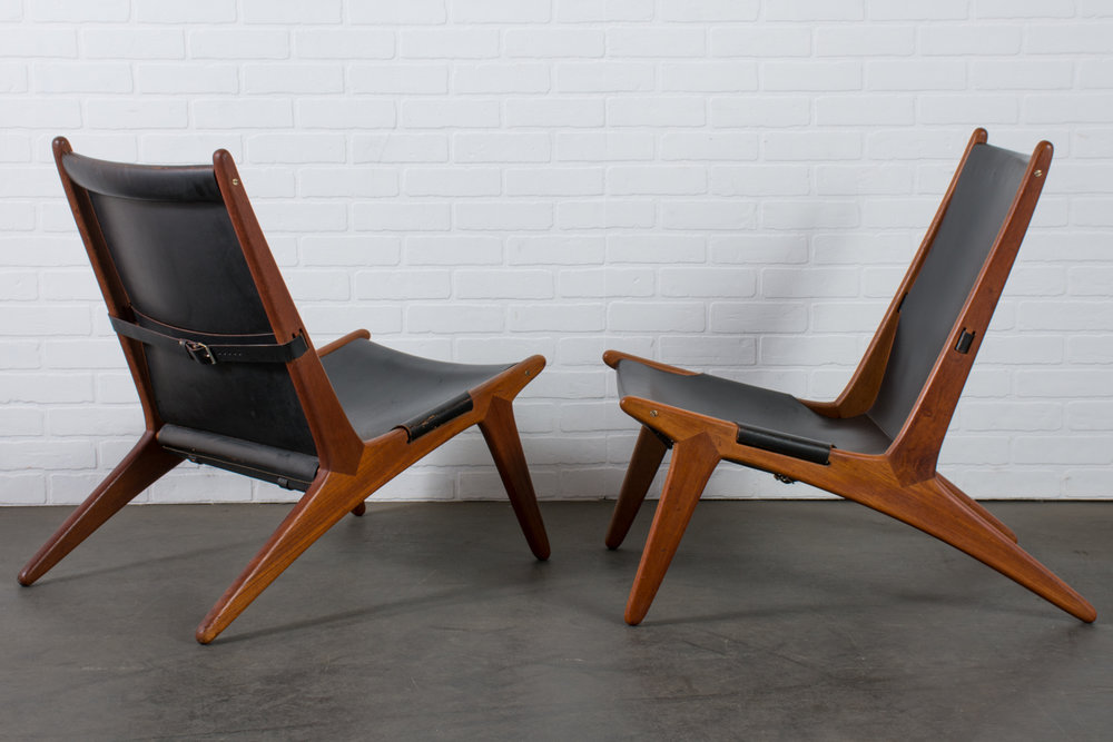 Copy of Pair of Hunting Chairs by Uno & Östen Kristiansson for Luxus, Sweden, 1954