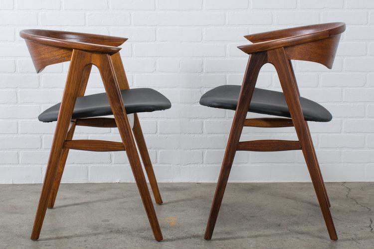 Erik Kirkegaard For Hong Stolefabrik Dux Compass Chairs Mid