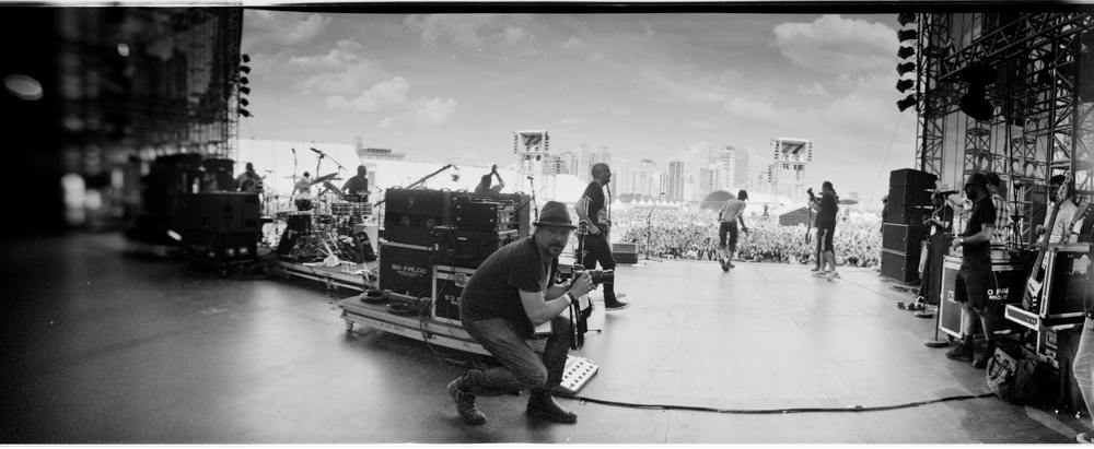 ⌃Danny Clinch shoots Gogol Bordello in Sao Paulo