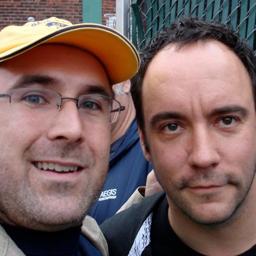 That is me on the left and Dave Matthews on the right. ;)