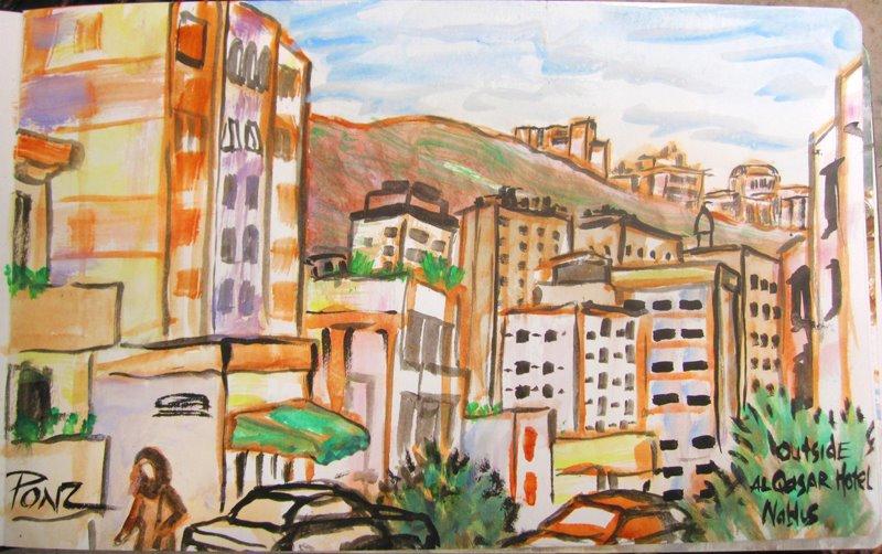 Quick sketch of Nablus