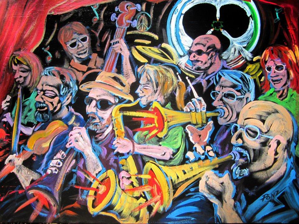 Klezmer Katz performance painting at fundraiser