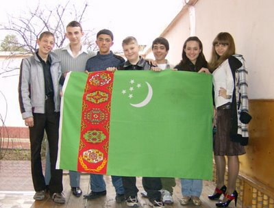 Greetings from our friends in Turkmenistan!