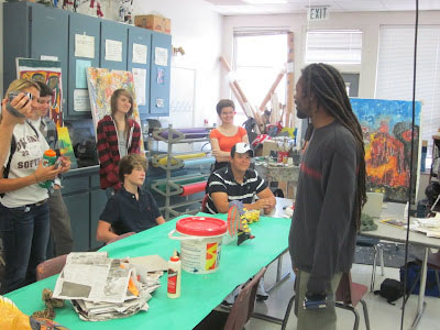 Artists from Jacmel, Haiti visit OHS