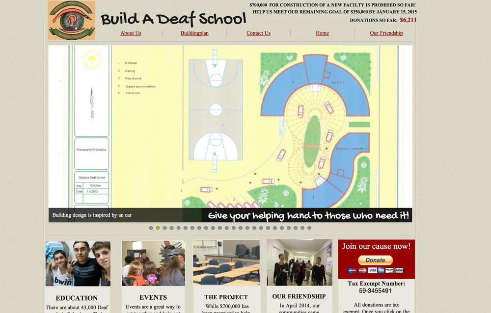 Please visit and donate to BuildaDeafSchool.org, becasue every child deserves a high school education.