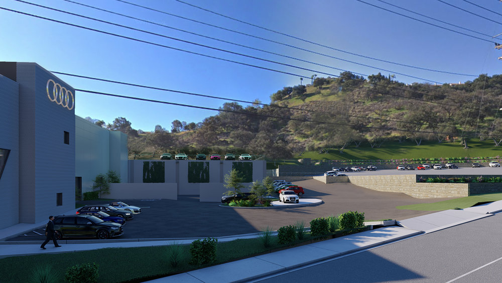 Audi Calabasas with adjacent lot (proposed)