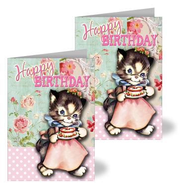 Happy Birthday Kitty Card Liz Lora