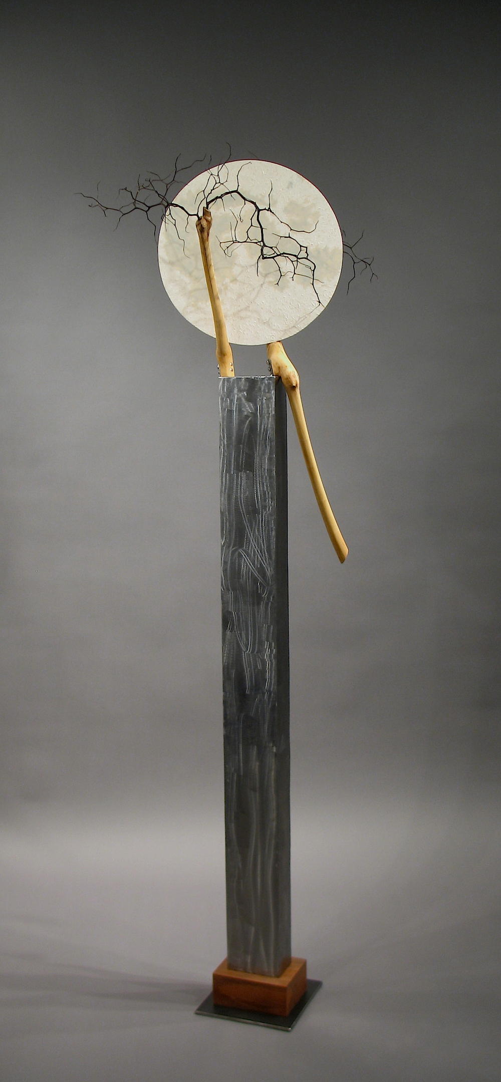Full-Moon welded steel, aluminum, wood  $2,200