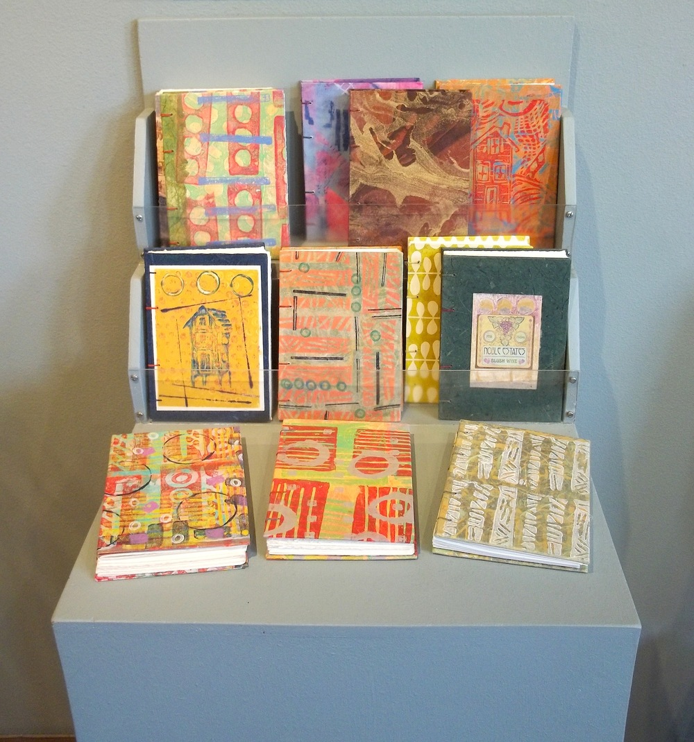 Our display of Handmade Books