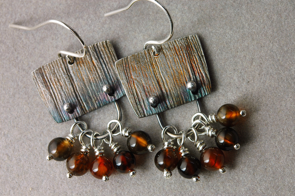 my brown wren_caramel sunshine silver and agate earrings copy.jpg