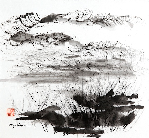 Reeds     sumi ink on paper     $