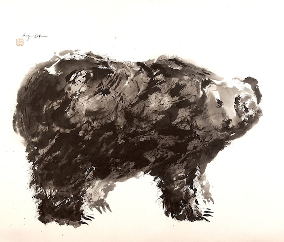 Grizzly     sumi ink on paper     $1,800