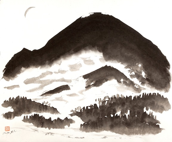 Mount Rainier     sumi ink on paper     $1,600