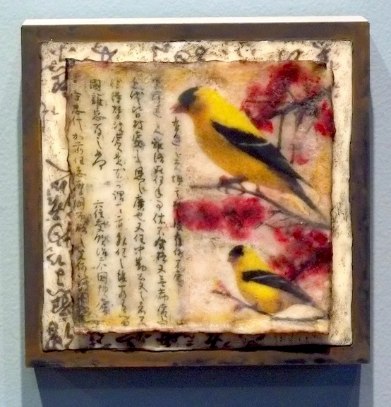 Goldfinches and Cherry Blossoms