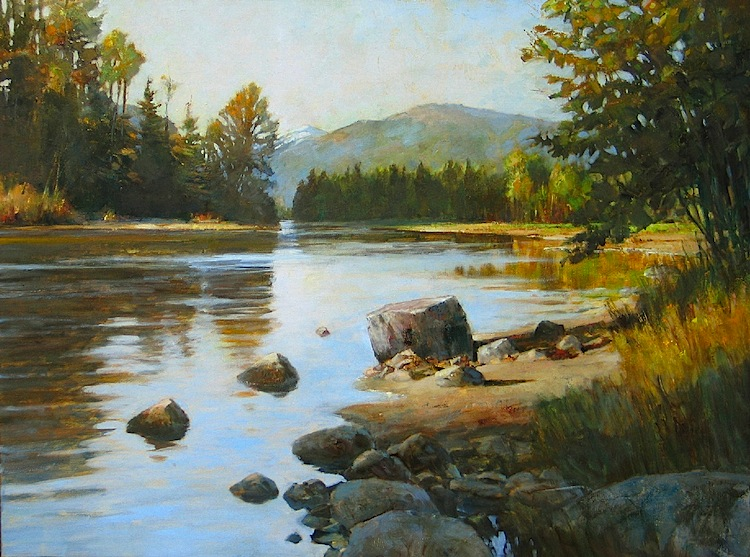 Methow River, Autumn     oil    SOLD