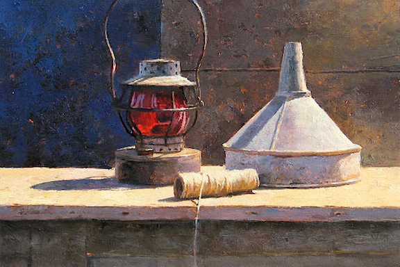 Lantern and Twine     oil    SOLD