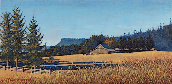 Double Bluff Barn      oil on linen     $1,400