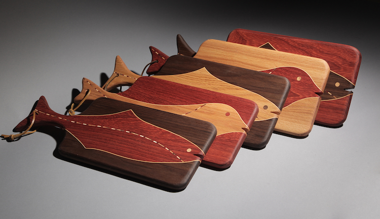 To purchase or inquire about Bruce Launers's currently available cutting boards, p  lease contact the gallery at 1-800-858-5063.