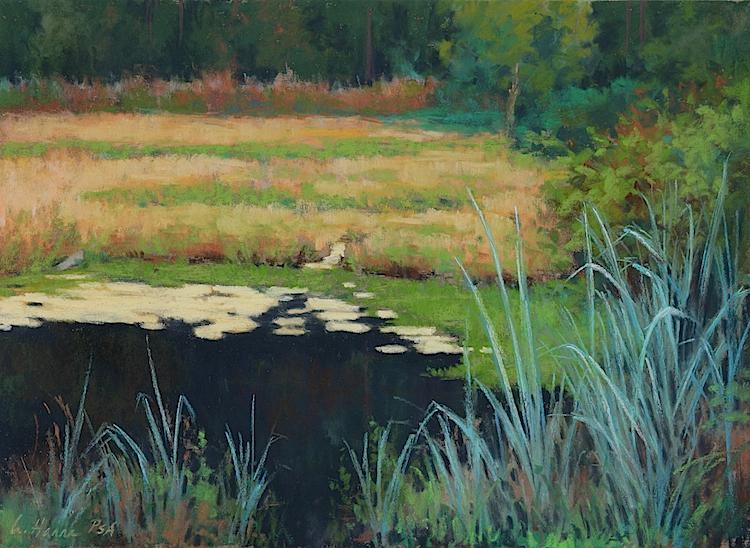 "Blue Grass pastel 12 x 16"" $1,200"