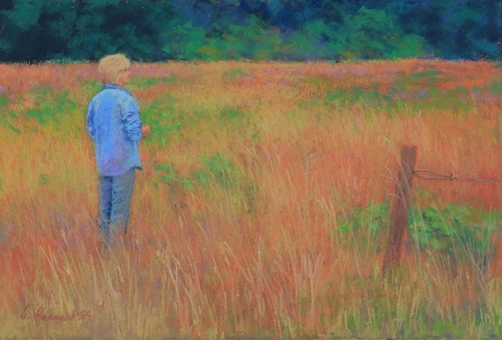 "Greenbank Grasses pastel 12 x 18"" $1,200"