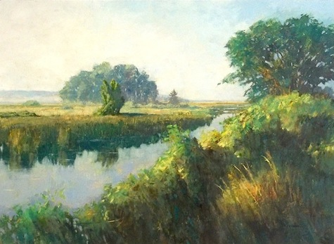 Summer Morning, Bayview    oil    19x26   $2500 framed