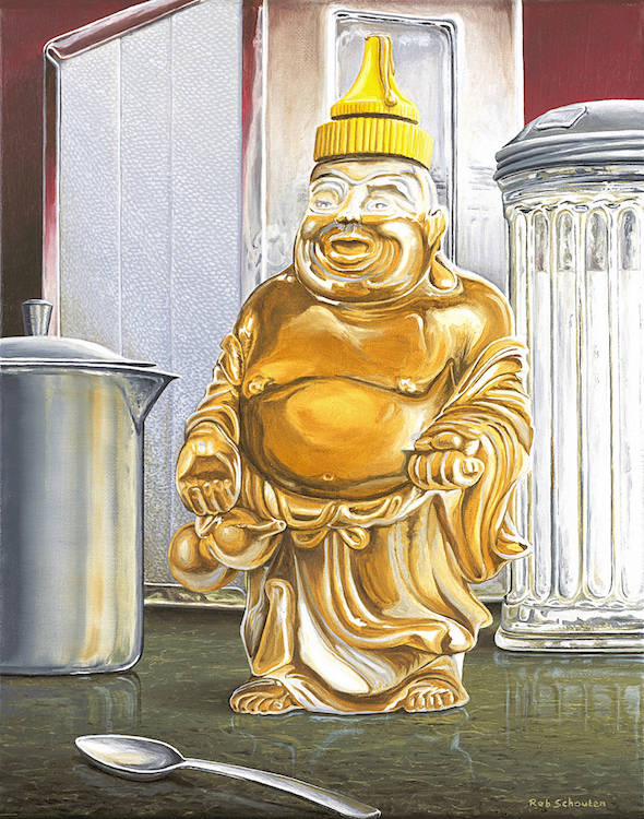 Honey Hotei limited edition of 24 archival fine art prints on canvas