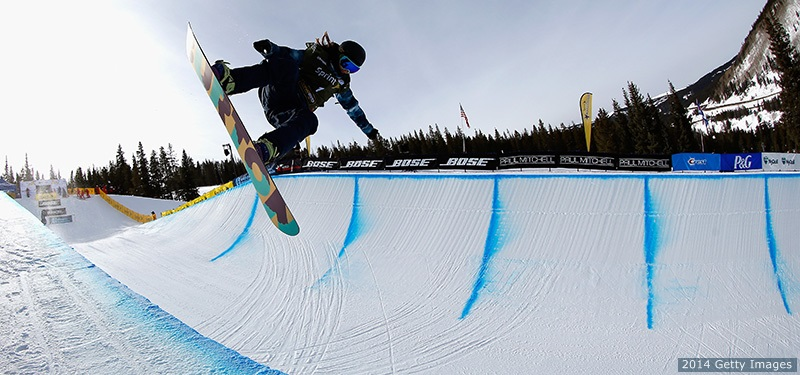 Kelly Clark competes at the Sprint U.S. Grand Prix halfpipe snowboarding competition on Dec. 6, 2014 in Copper Mountain, Colorado.