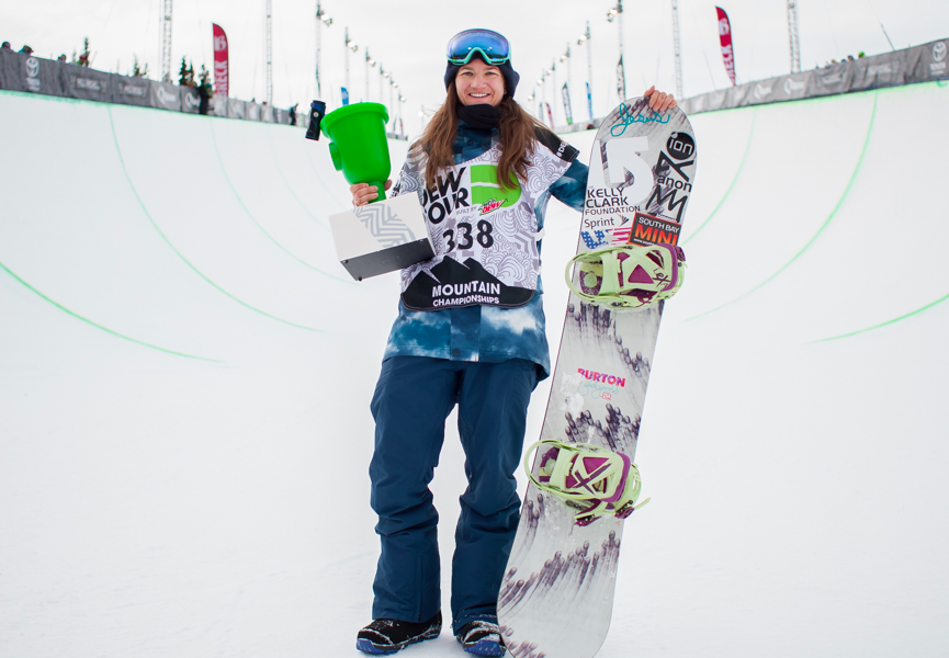 The queen of halfpipe, Kelly Clark.