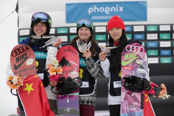 """I'm thankful to put down the run I did today,"" Clark said after the event. ""I'm stoked on my snowboarding and even more stoked to end up on top of the podium."" Read more at http://snowboarding.transworld.net/news/scotty-james-kelly-clark-win-olympic-test-event-pyeongchang/#IOHyPVpUBIUsLgfy.99"