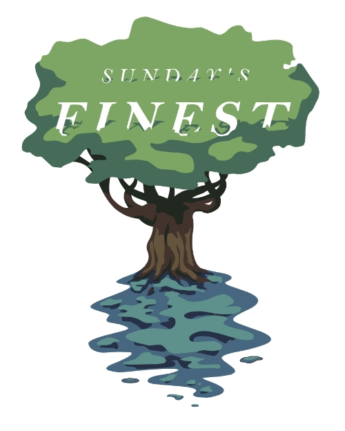 Logo for Sunday's Finest clothier.
