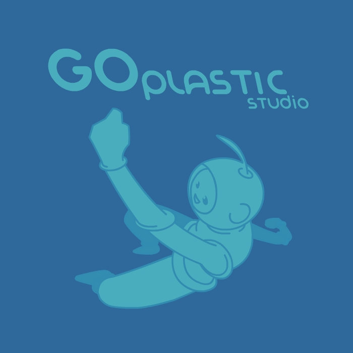 Logo done for the now defunct GoPlastic Studio.