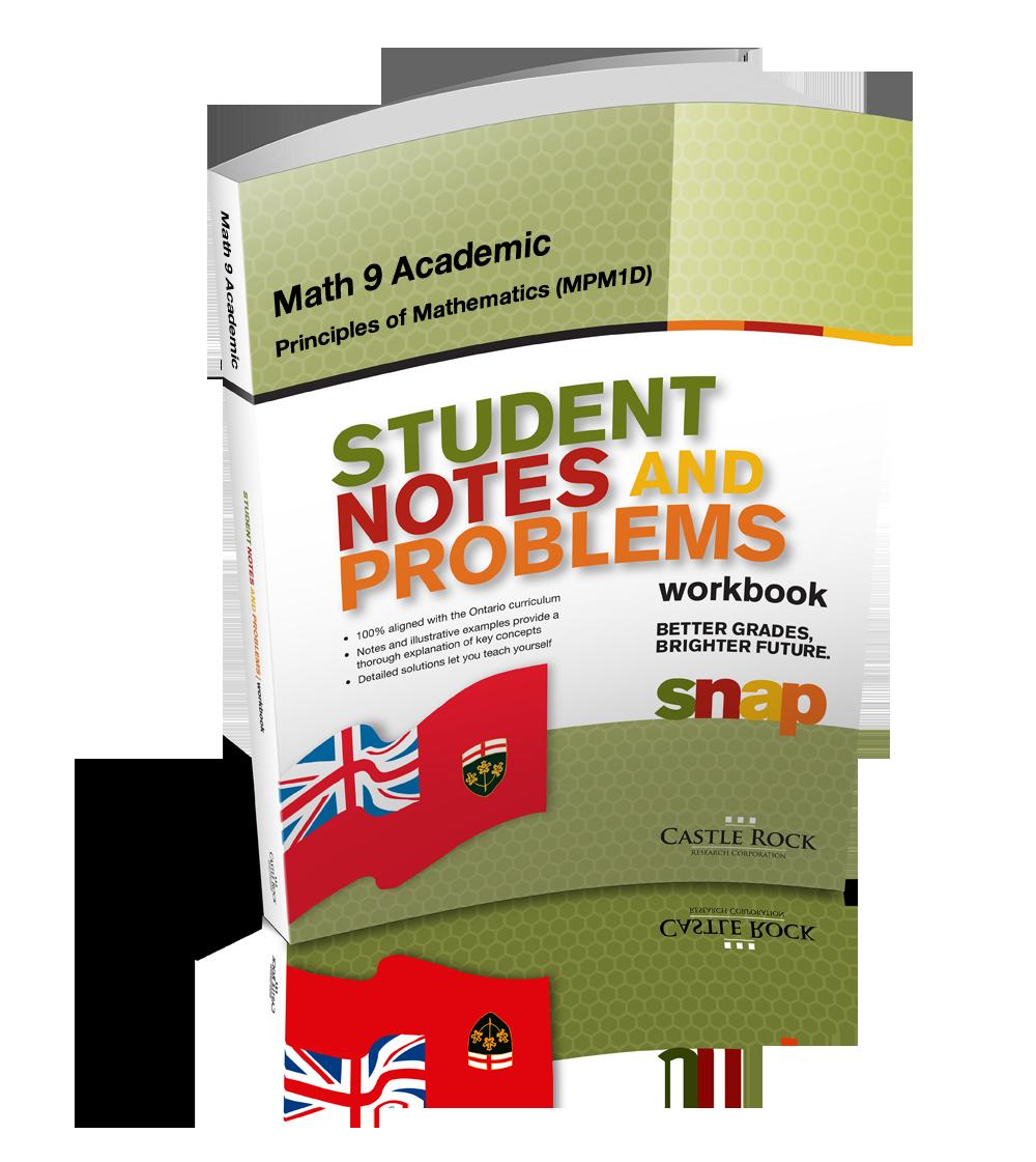 Workbooks math makes sense 7 workbook : SNAP - Ontario Mathematics 9, Academic, Principles of Mathematics ...
