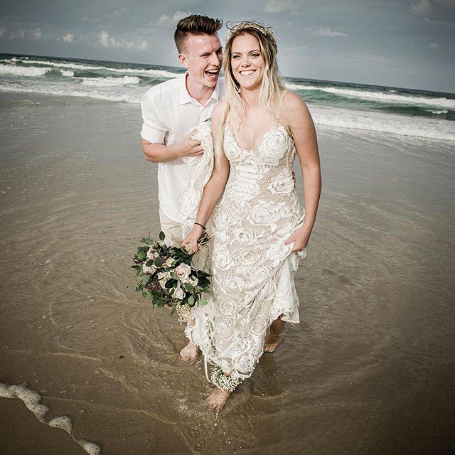 Luv relaxed, no shoes weddings #currumbin #weddingphotography #relaxedweddings #weddingphotographerbrisbane #weddings #beachwedding
