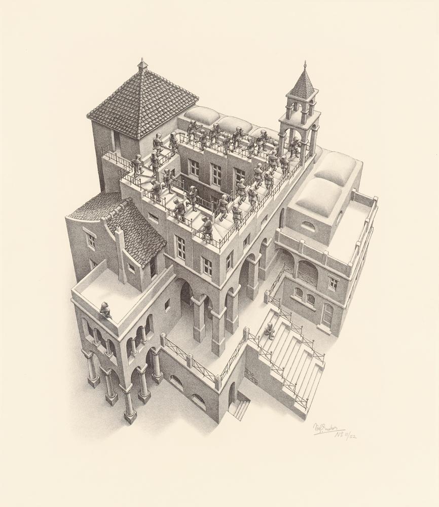 Ascending and Descending, M.C. Escher, 1960