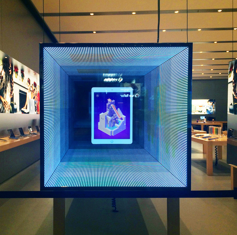 Nothing like seeing your game on display at an Apple Store in your home town