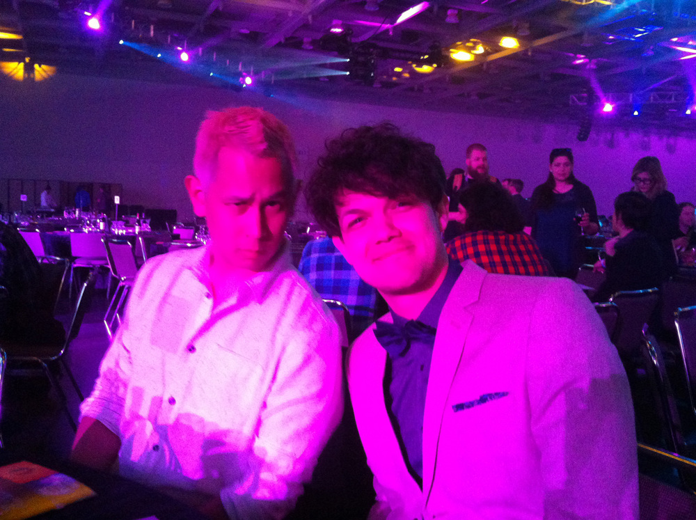 Ken and Dan just psyched to be nominated at the Game Developer's Choice awards!
