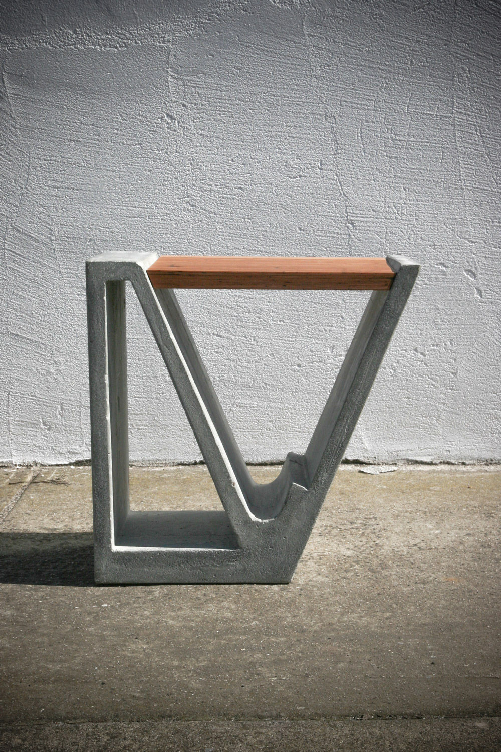 MAGAZINE STABLE Materials:Formed Concrete & Solid Blackbutt Timber Size:[450 w x 300 d L x 450 h] mm Price:$1100 +GST [AUD]