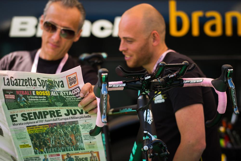 Bianchi leads the Giro