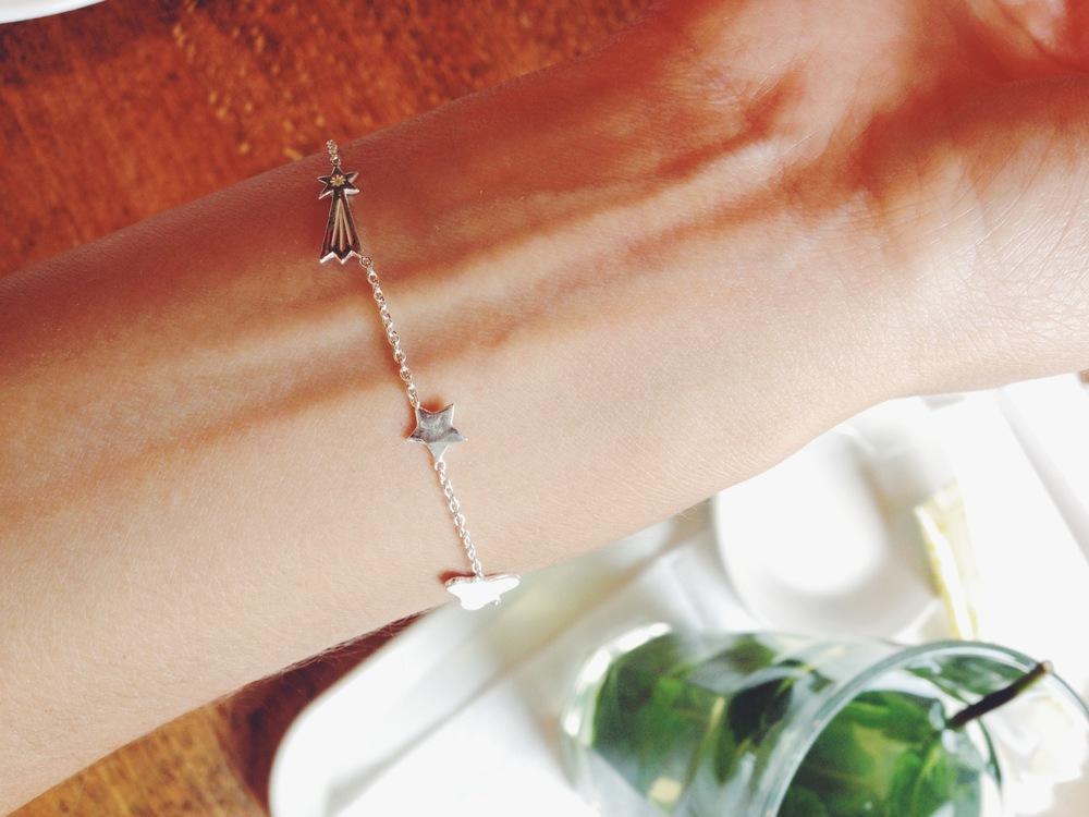 Stargazer bracelet in silver