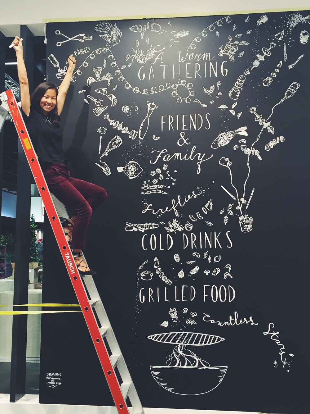 Blackboard drawing (2,5m x 5m) in Cologne, Germany