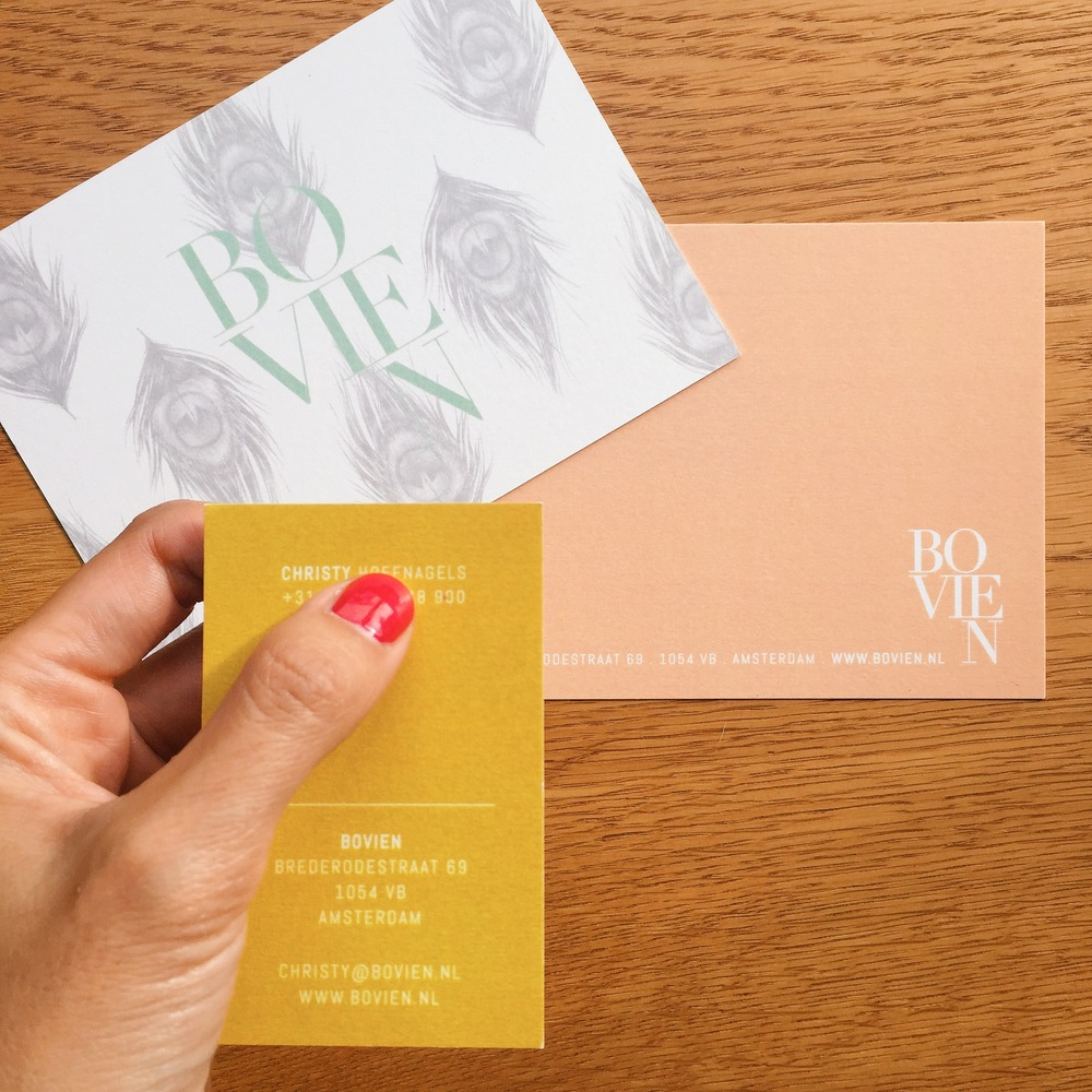 Branding and identity design and illustration for Bovien boutique B&B