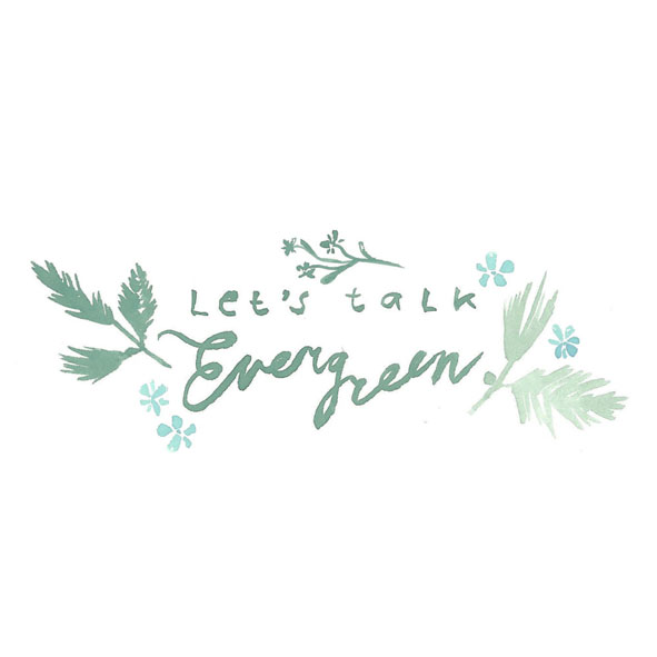 Logo illustration and design for 'Let's Talk Evergreen'
