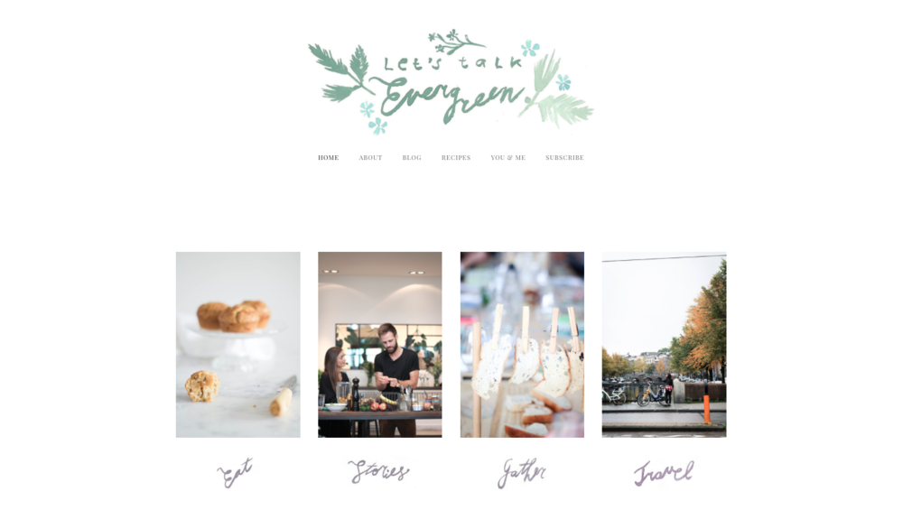 Hand lettering and use of logo on Ingrid's website