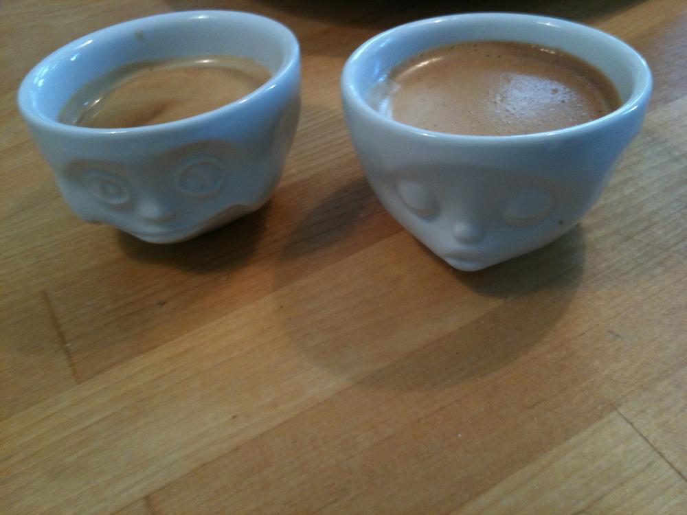 Petits cafés de fin de repas… trop mignons !