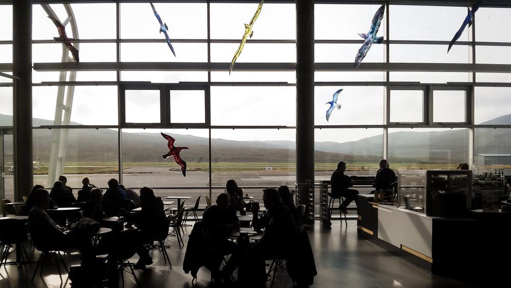 Στο αεροδρόμιο Vagar
